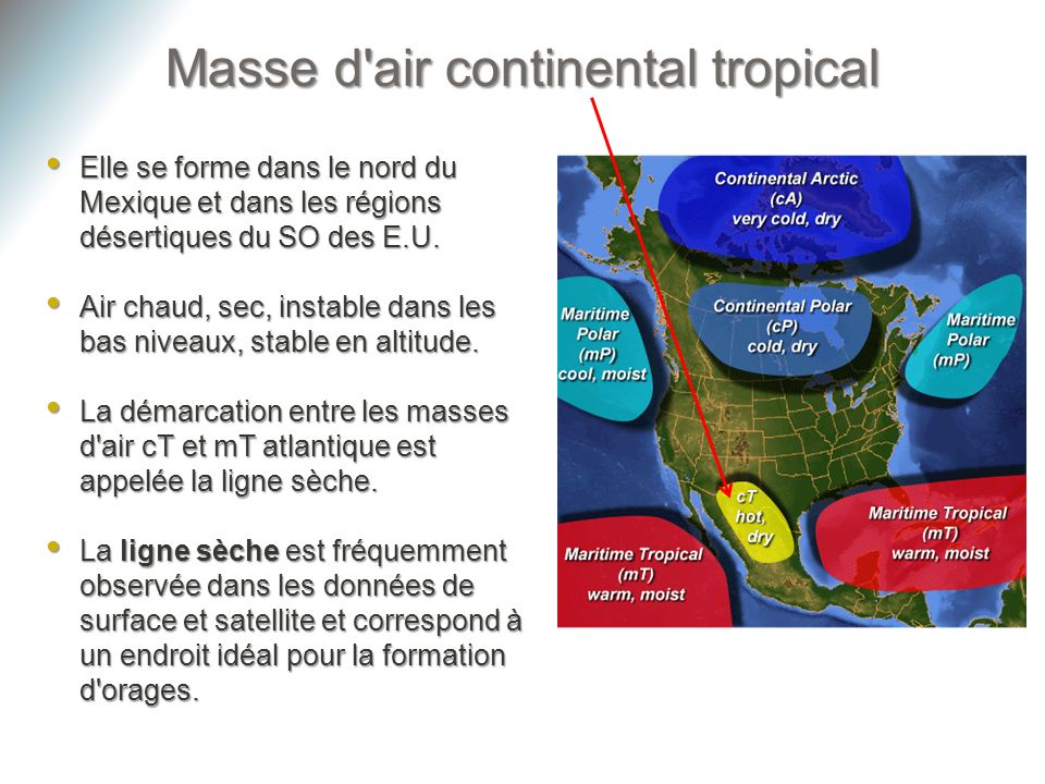 Masse d air continental tropical