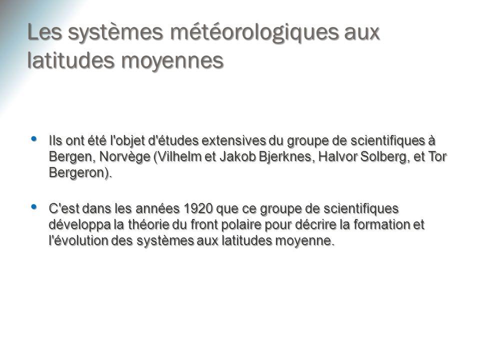 Les systèmes météorologiques aux latitudes moyennes