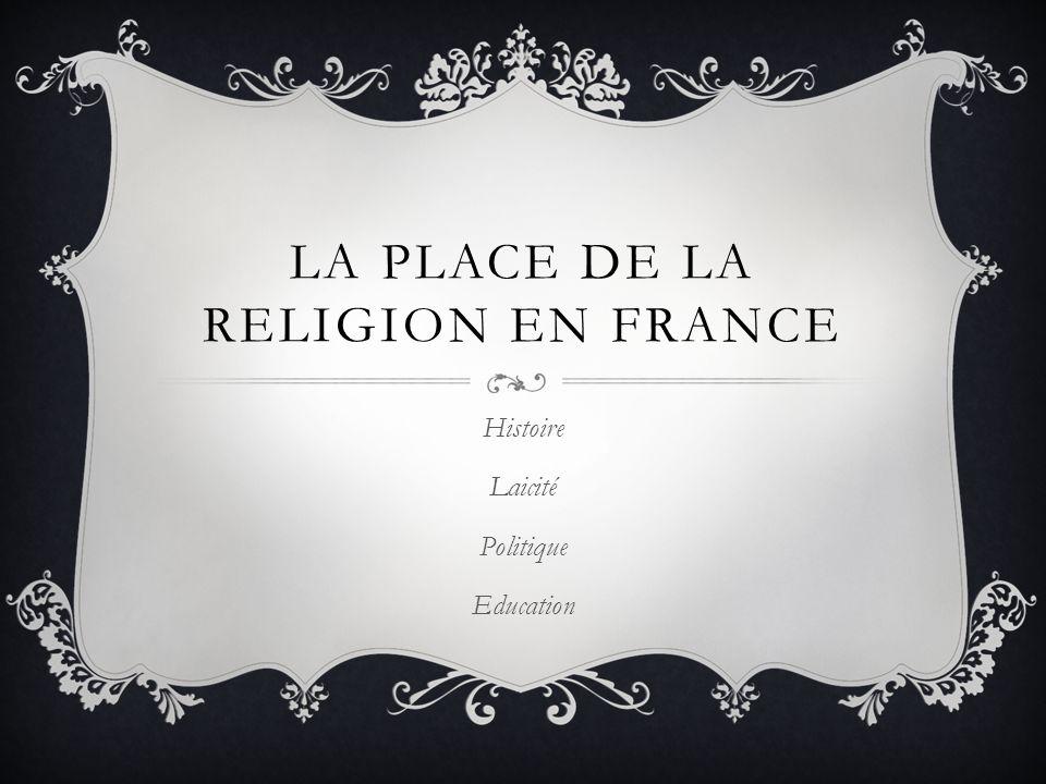 La place de la religion en France