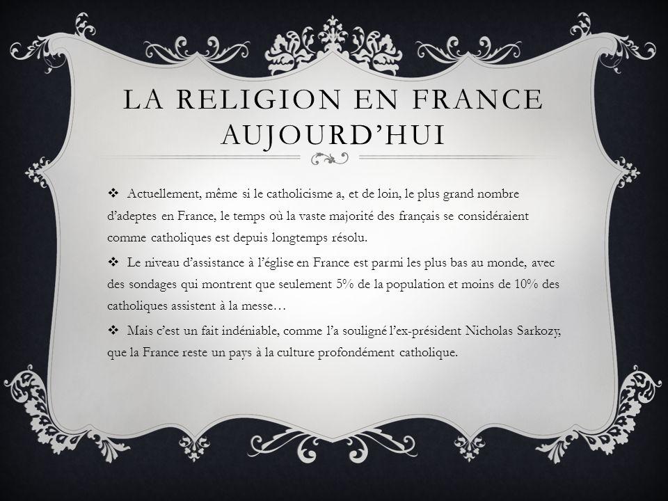 La religion en France aujourd'hui