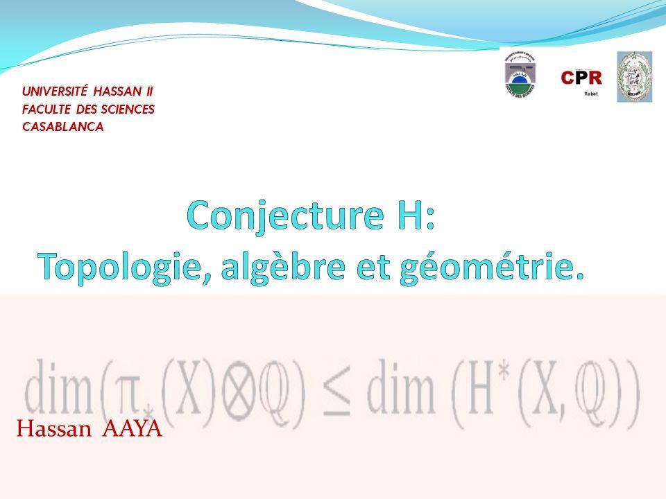 Conjecture H: Topologie, algèbre et géométrie.