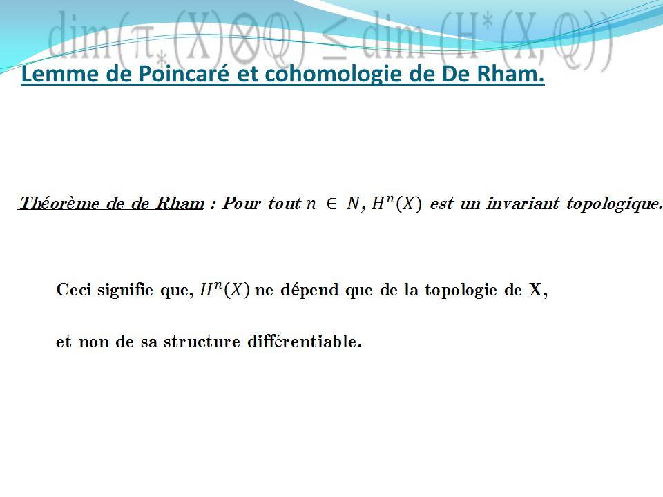 Lemme de Poincaré et cohomologie de De Rham.