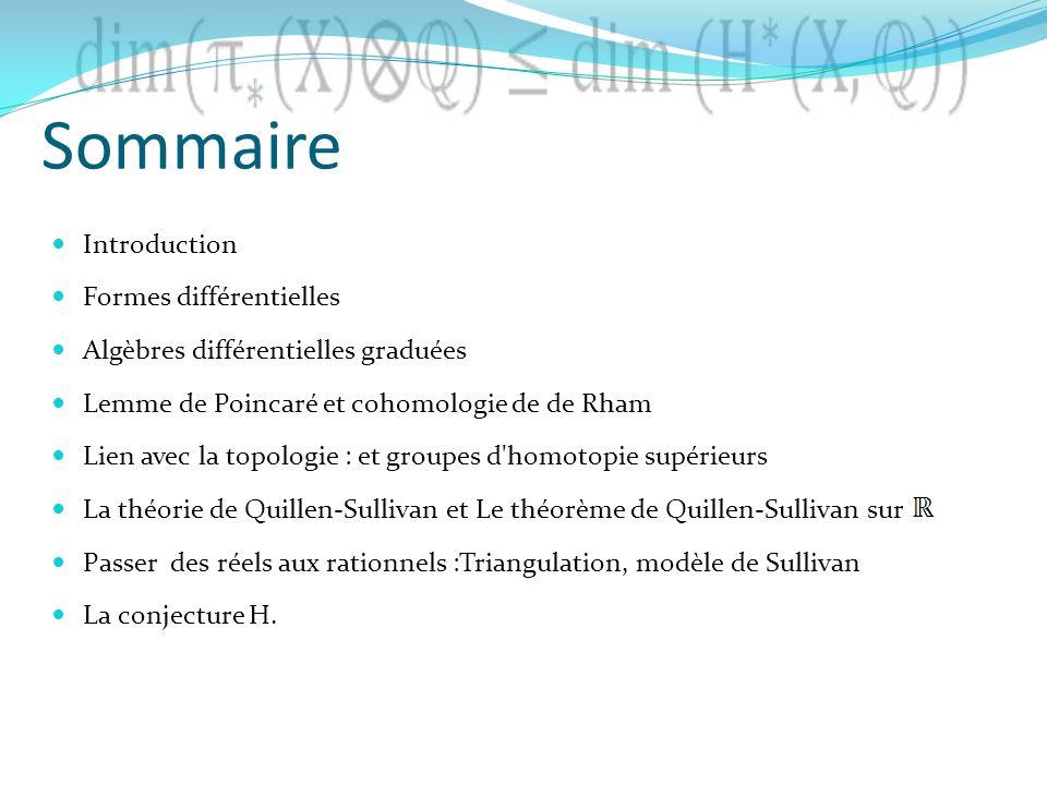 Sommaire Introduction Formes différentielles