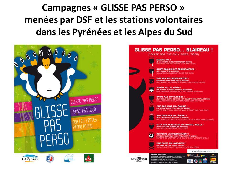 Campagnes « GLISSE PAS PERSO »