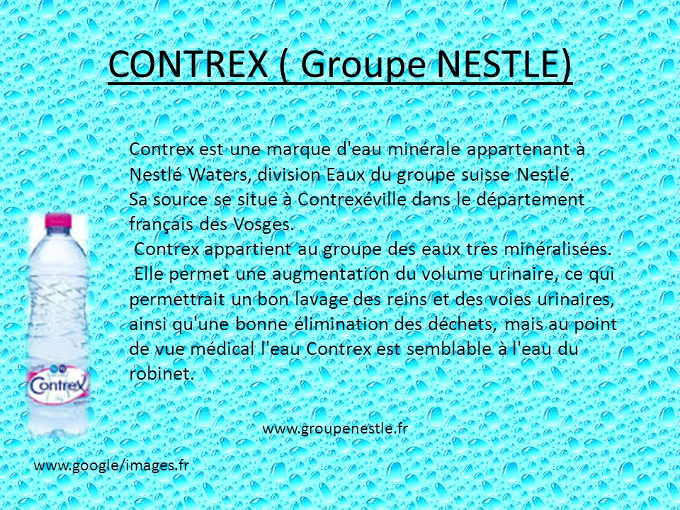 CONTREX ( Groupe NESTLE)
