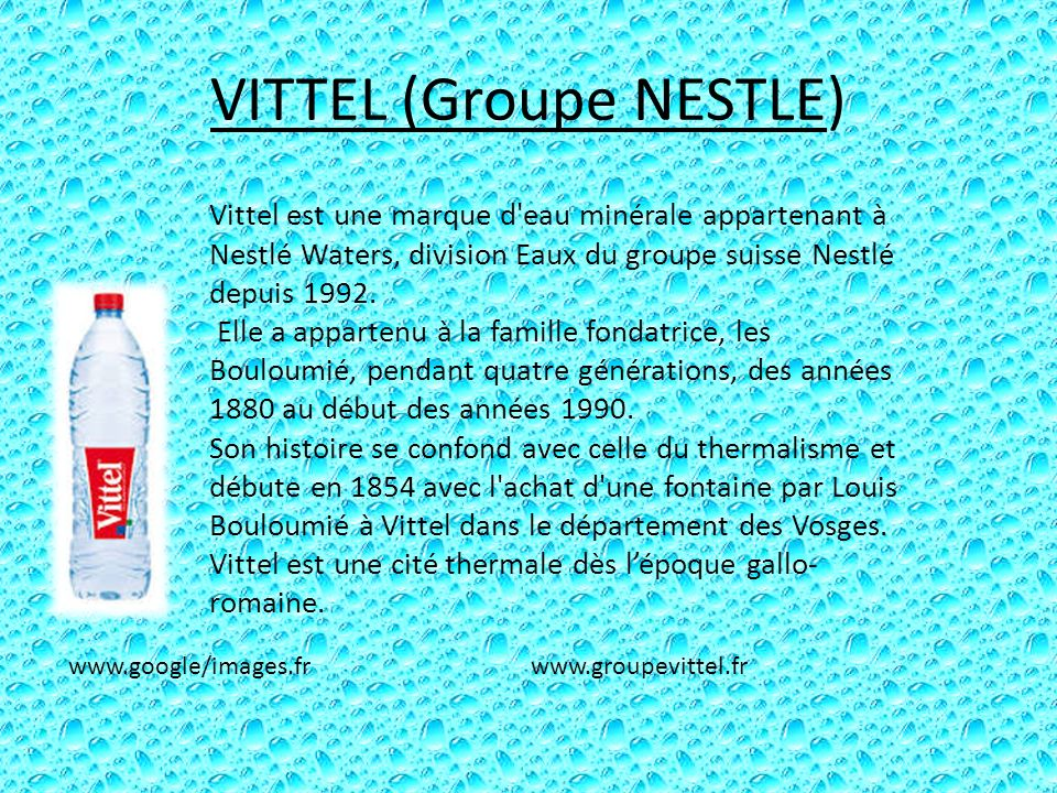 VITTEL (Groupe NESTLE)