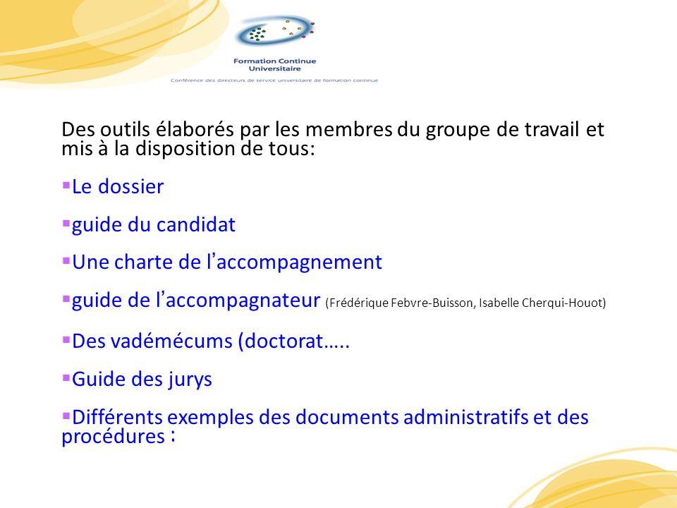 PrPDes outils élaborés par les membres du groupe de travail et mis à la disposition de tous: Le dossier.