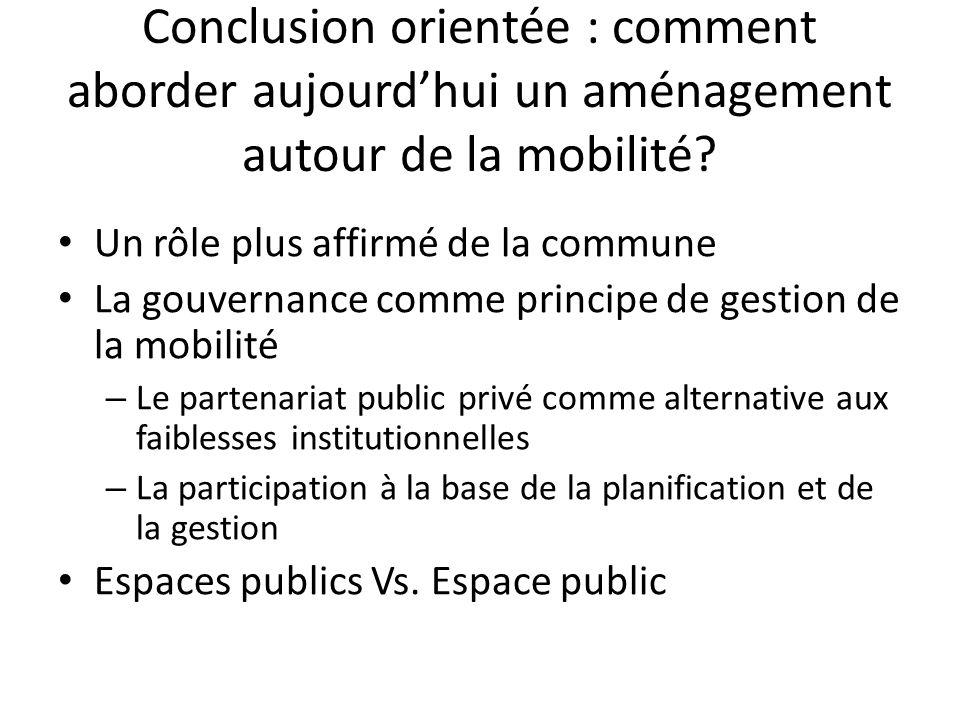 Conclusion orientée : comment aborder aujourd'hui un aménagement autour de la mobilité