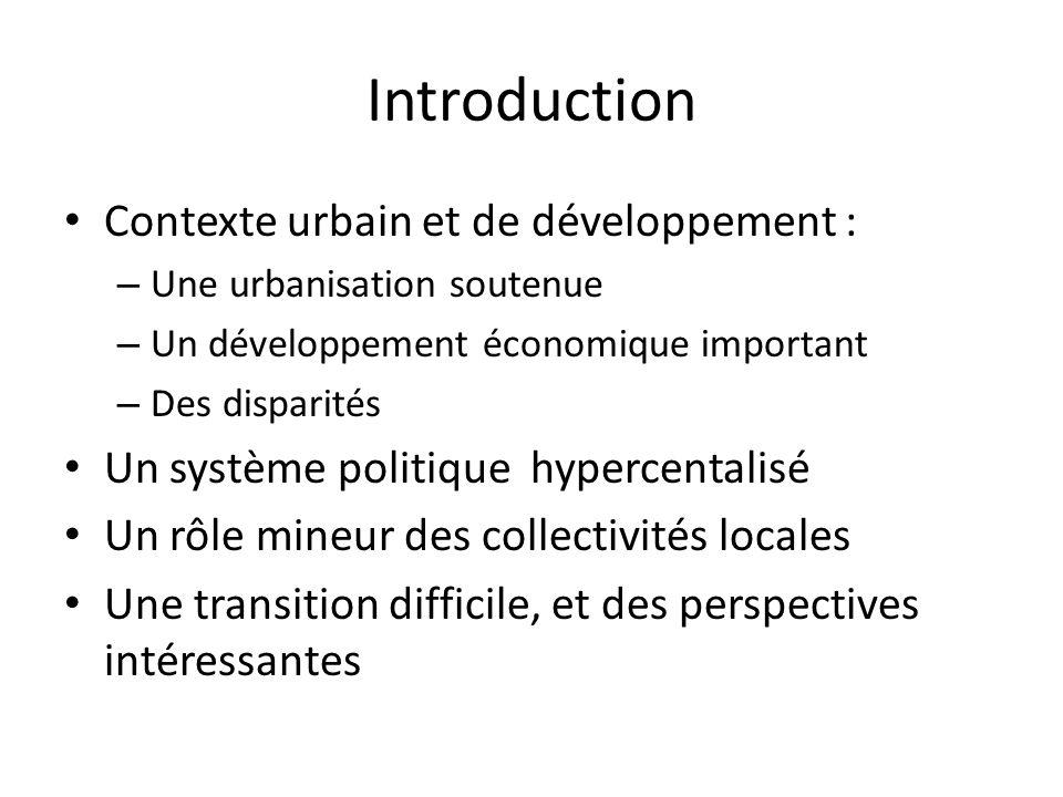 Introduction Contexte urbain et de développement :