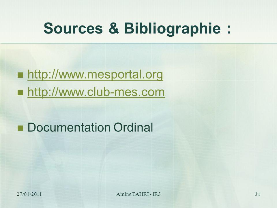 Sources & Bibliographie :