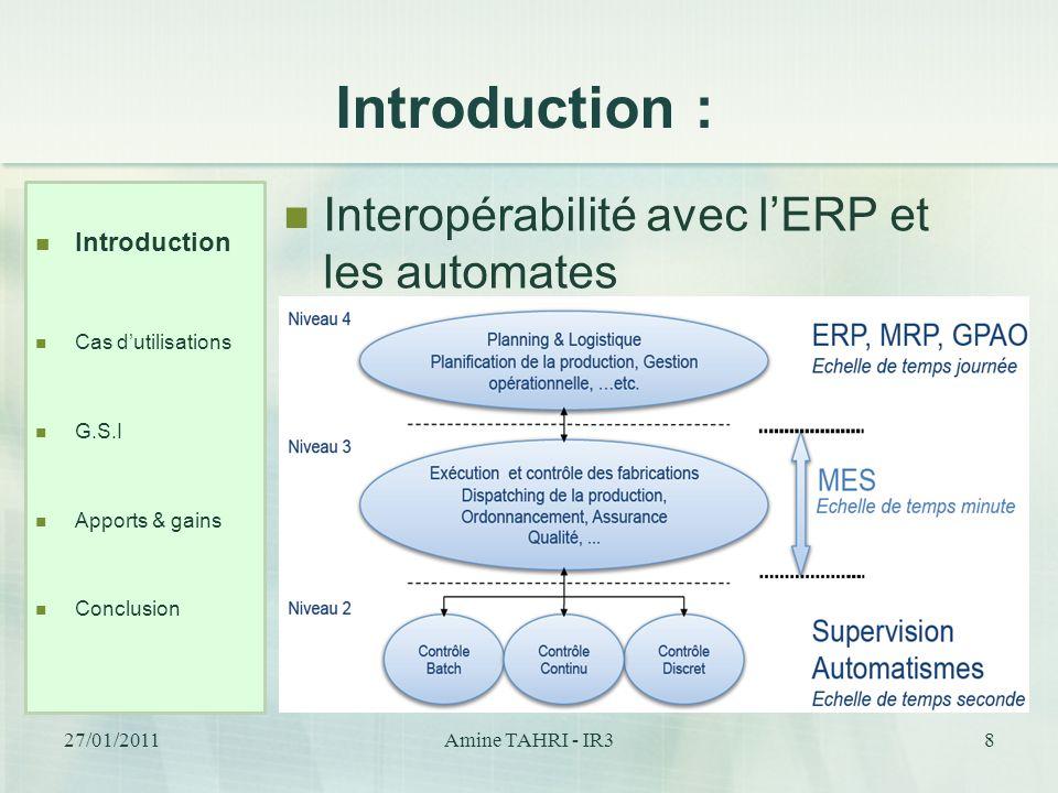 Introduction : Interopérabilité avec l'ERP et les automates
