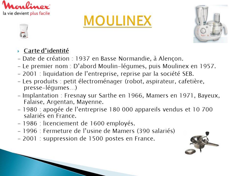 MOULINEX Carte d'identité