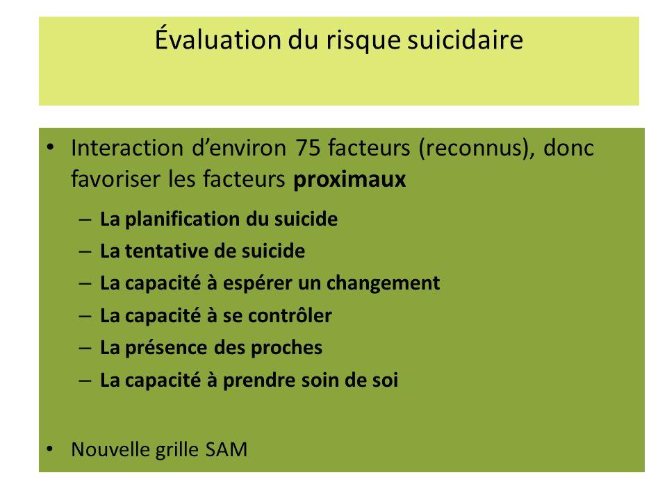 Évaluation du risque suicidaire