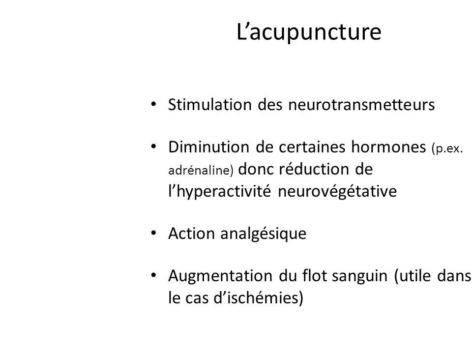 L'acupuncture Stimulation des neurotransmetteurs