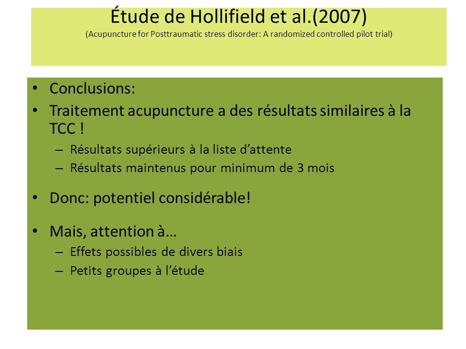 Étude de Hollifield et al