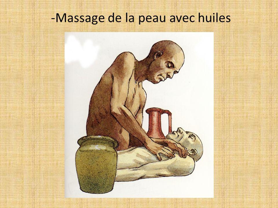 -Massage de la peau avec huiles