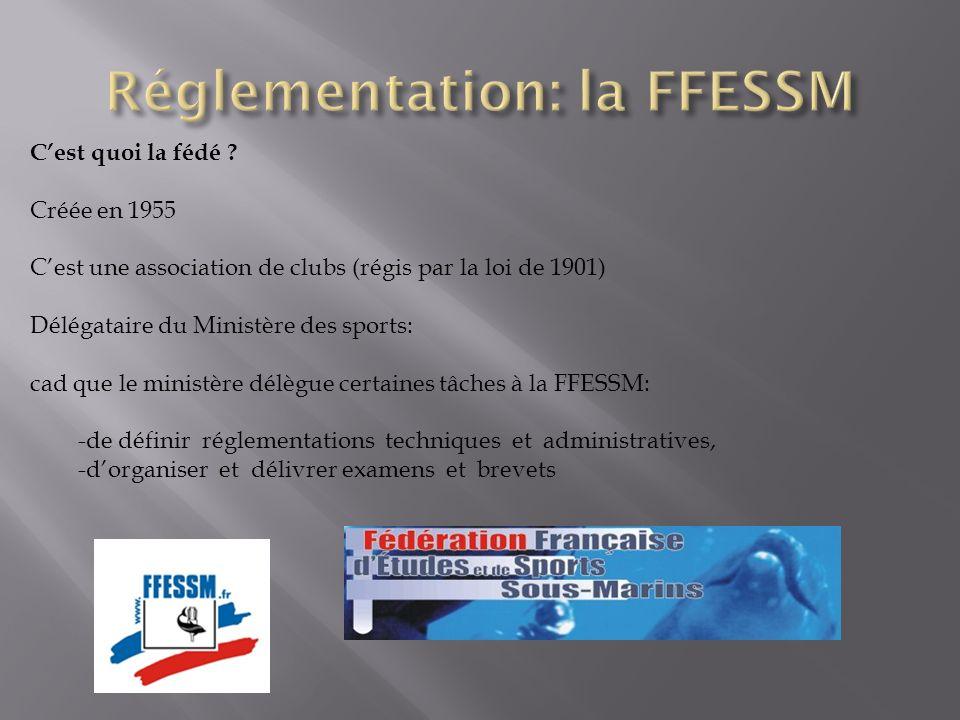 Réglementation: la FFESSM