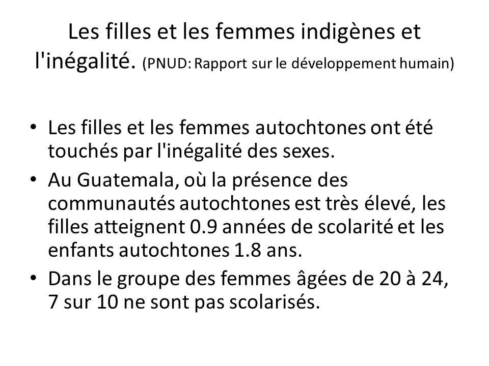 Les filles et les femmes indigènes et l inégalité