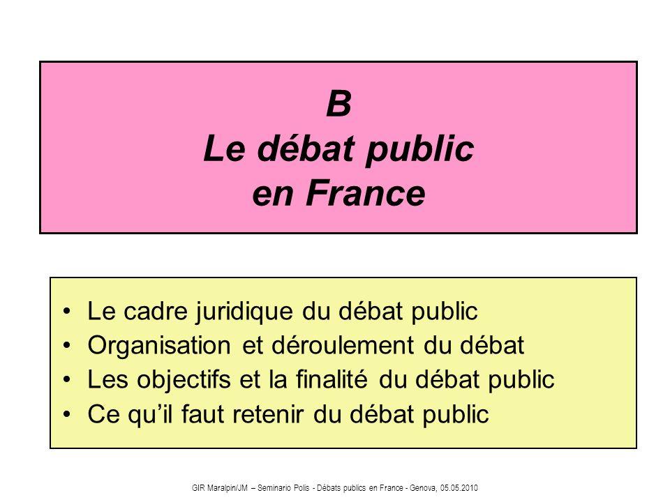 B Le débat public en France