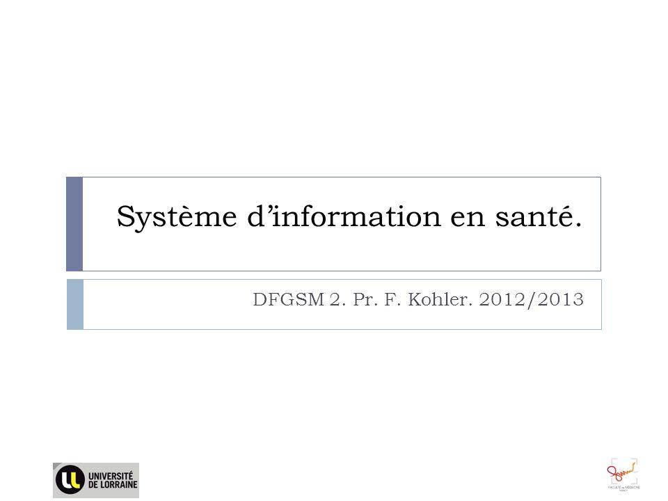 Système d'information en santé.
