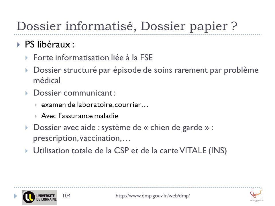 Dossier informatisé, Dossier papier
