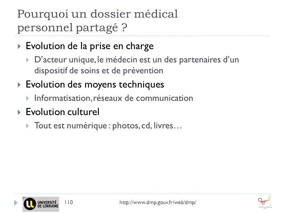 Pourquoi un dossier médical personnel partagé