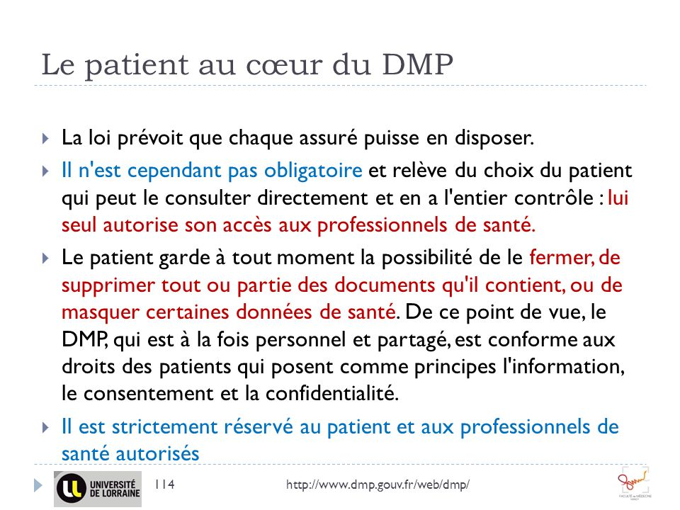 Le patient au cœur du DMP