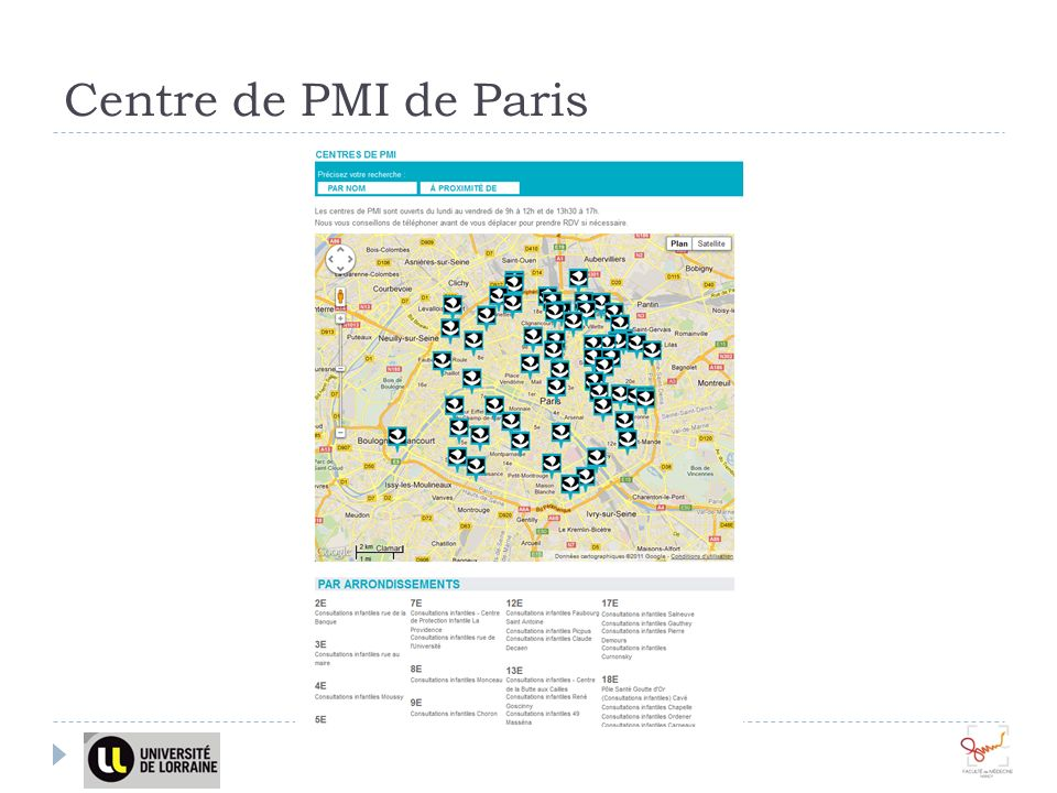 Centre de PMI de Paris