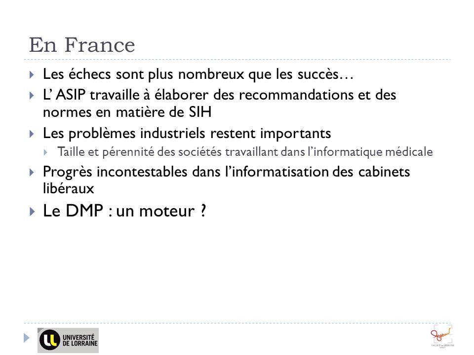 En France Le DMP : un moteur