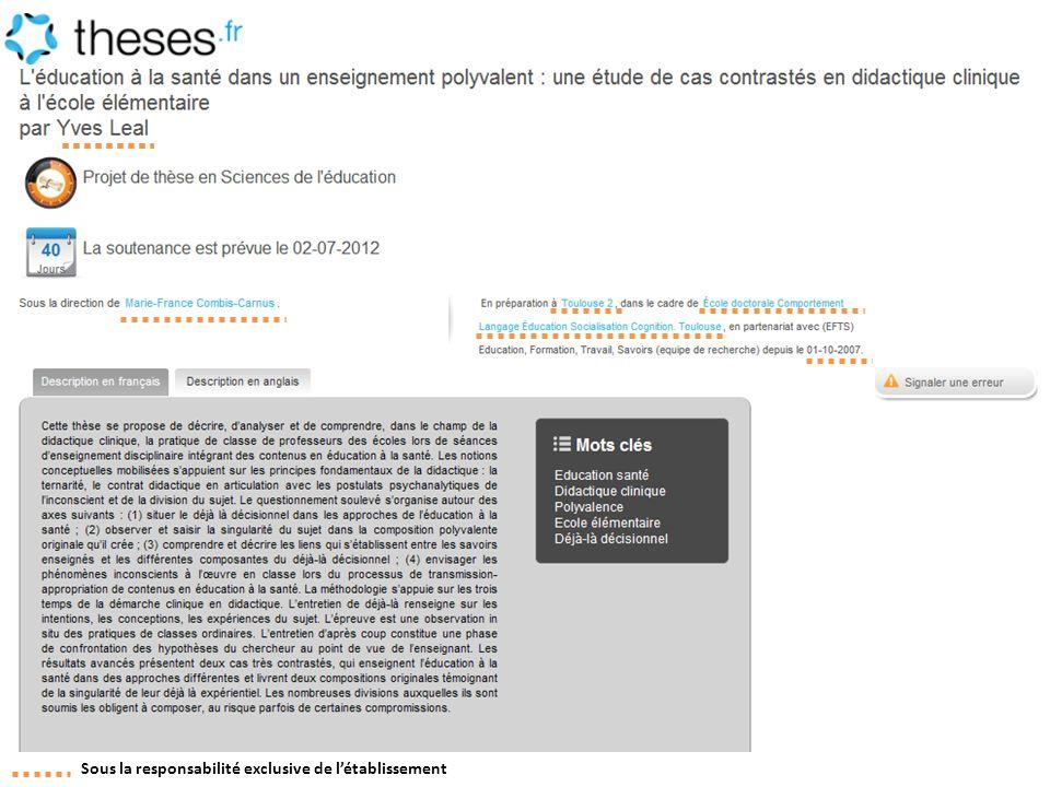 http://www.theses.fr/s70416 Sous la responsabilité exclusive de l'établissement