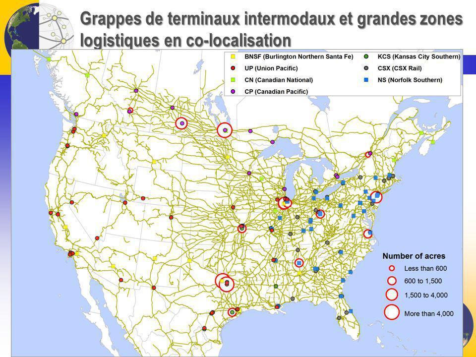 Grappes de terminaux intermodaux et grandes zones logistiques en co-localisation