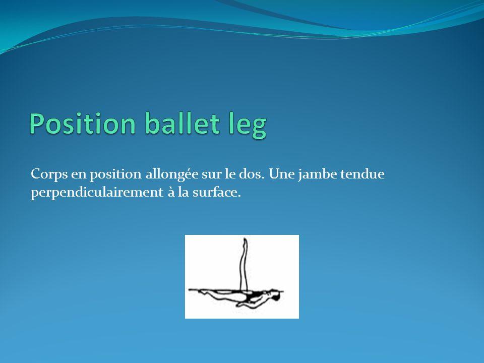 Position ballet leg Corps en position allongée sur le dos.