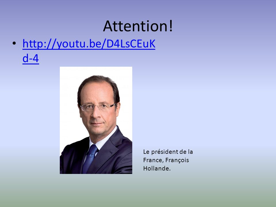 Attention! http://youtu.be/D4LsCEuKd-4