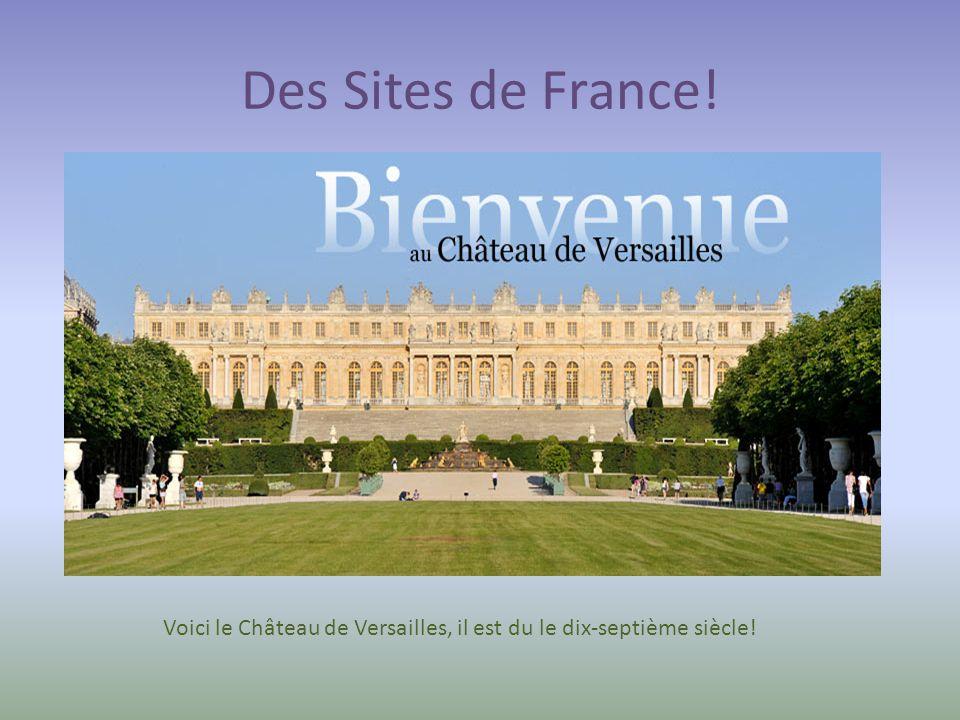 Voici le Château de Versailles, il est du le dix-septième siècle!