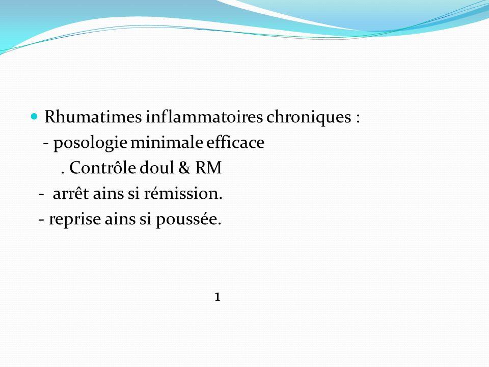 Rhumatimes inflammatoires chroniques :
