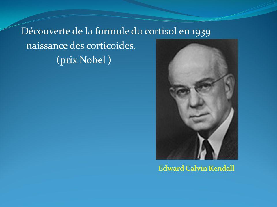 Découverte de la formule du cortisol en 1939