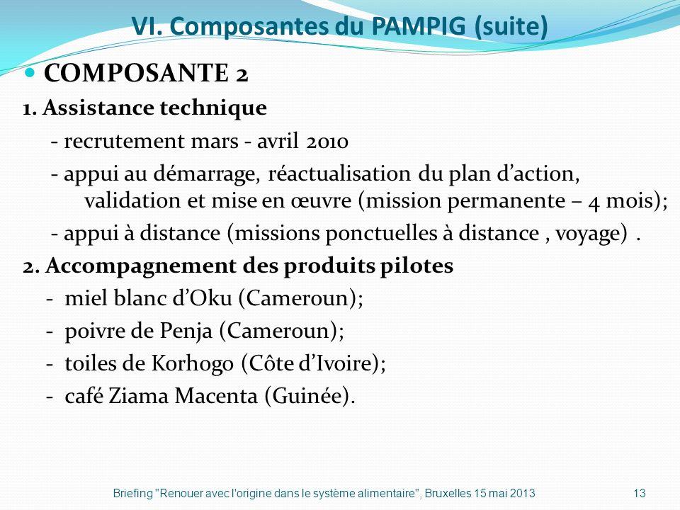 VI. Composantes du PAMPIG (suite)