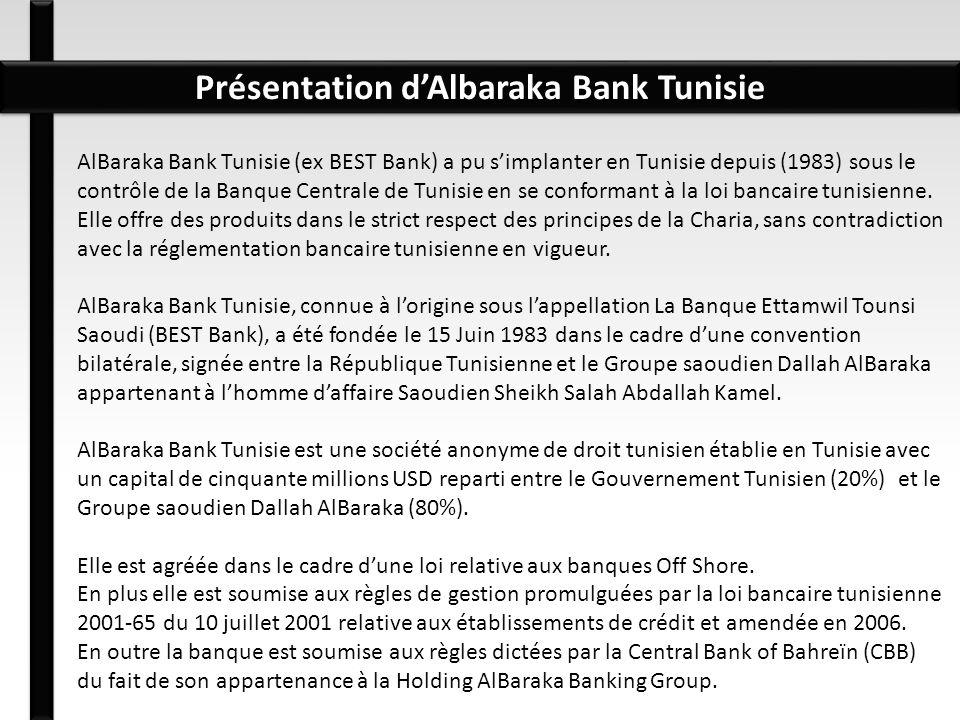 Présentation d'Albaraka Bank Tunisie