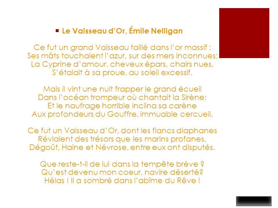 -Bric-à-brac – Poésie Le vaisseau d'or d'Émile Nelligan