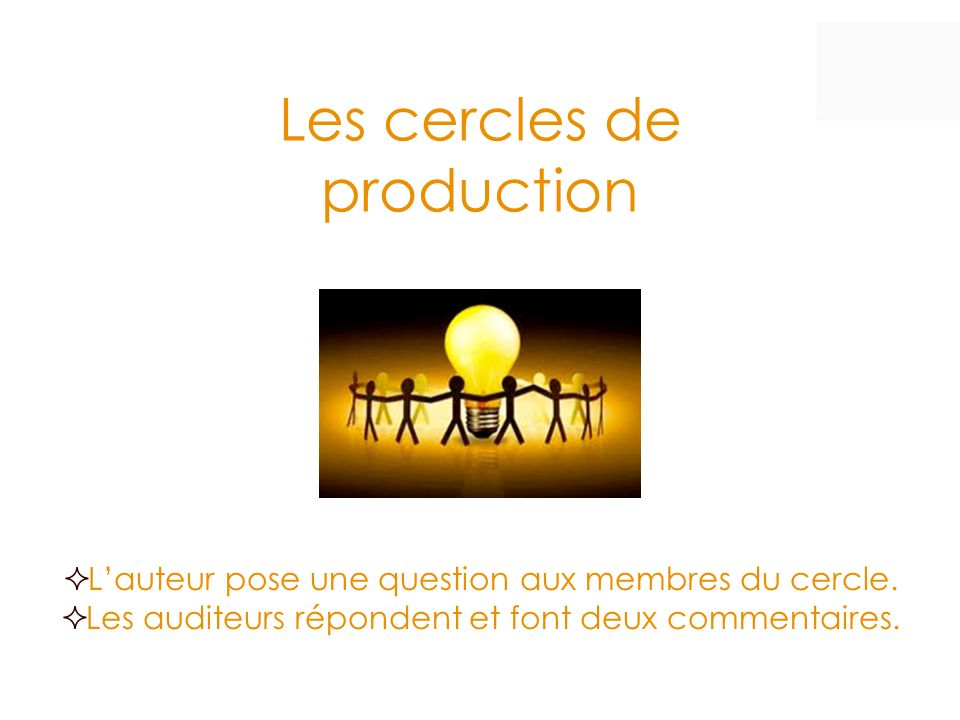 Les cercles de production