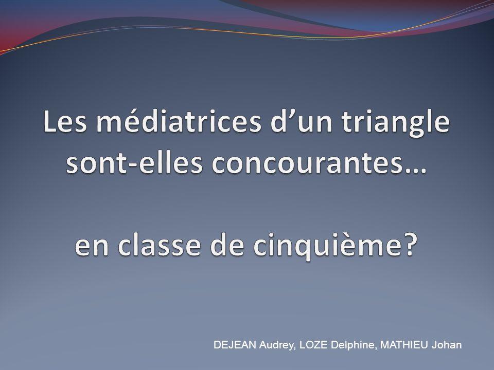 Les médiatrices d'un triangle sont-elles concourantes… en classe de cinquième