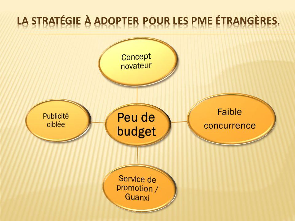 La stratégie à adopter pour les PME étrangères.