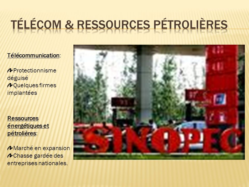 Télécom & Ressources Pétrolières