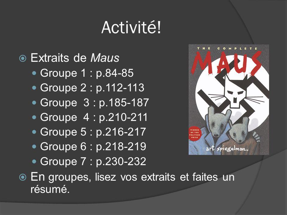 Activité! Extraits de Maus