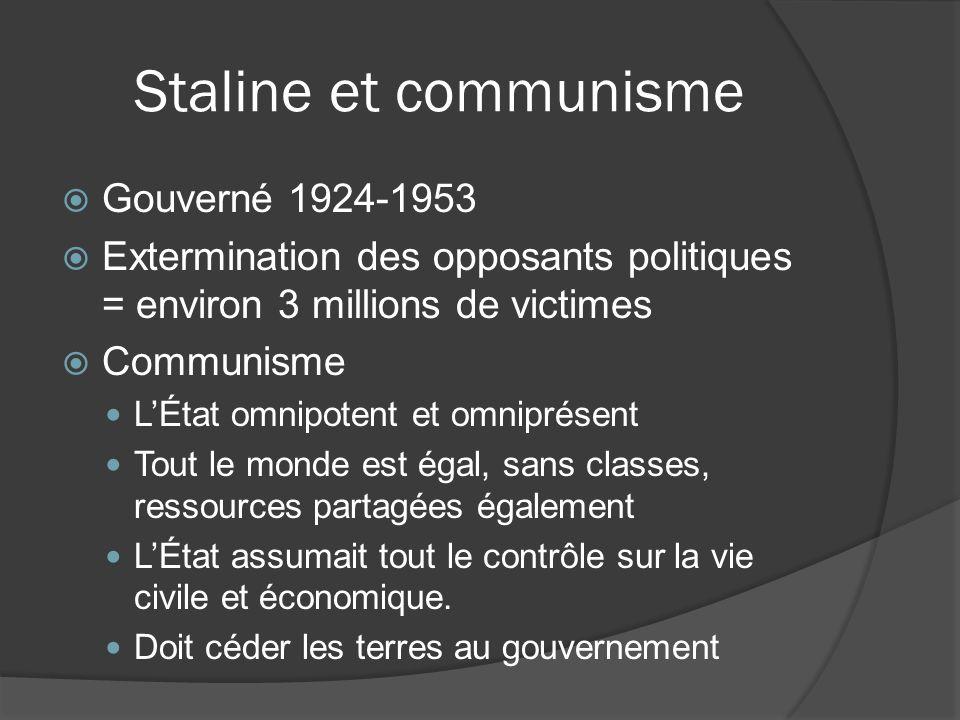 Staline et communisme Gouverné 1924-1953