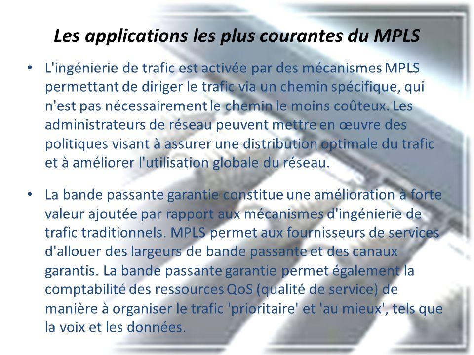 Les applications les plus courantes du MPLS