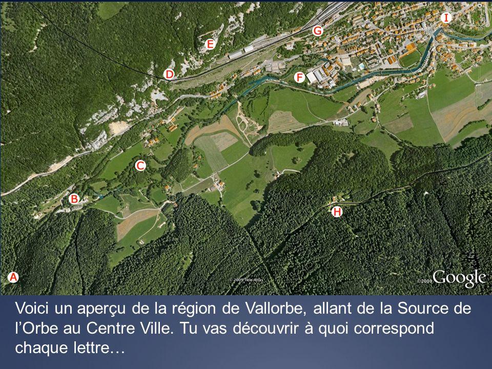 Voici un aperçu de la région de Vallorbe, allant de la Source de l'Orbe au Centre Ville.