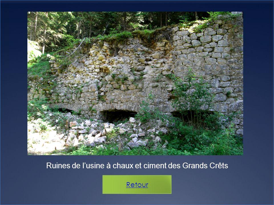 Ruines de l'usine à chaux et ciment des Grands Crêts