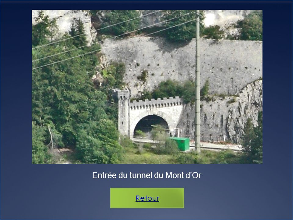 Entrée du tunnel du Mont d'Or