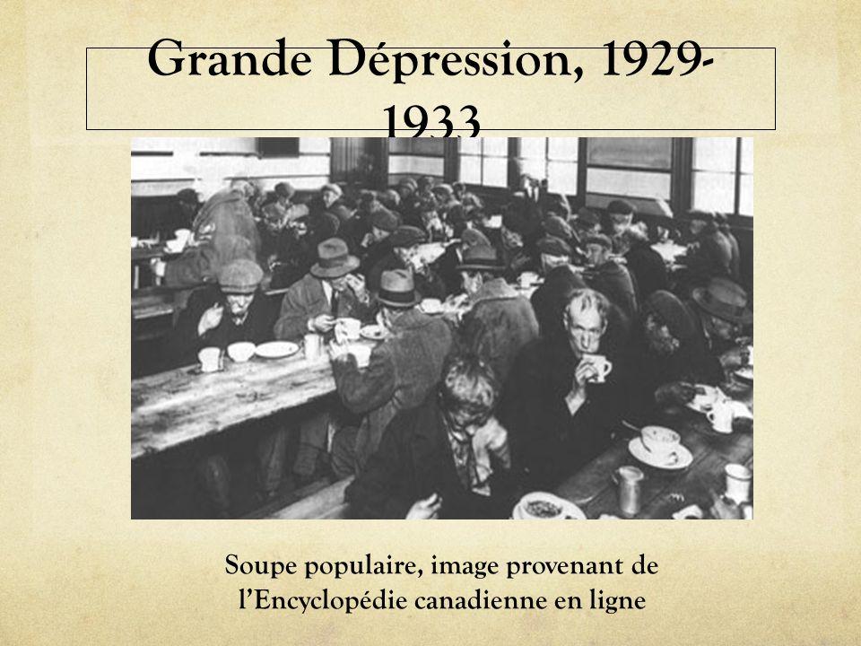 Soupe populaire, image provenant de l'Encyclopédie canadienne en ligne